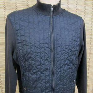 Calvin Klein Womens Sz L Quilted Full Zip Jacket